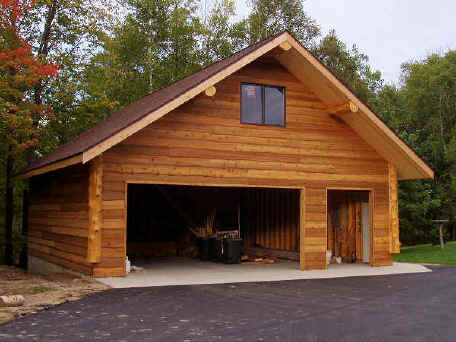 Small cabins with loft kits joy studio design gallery for Log home garage kits